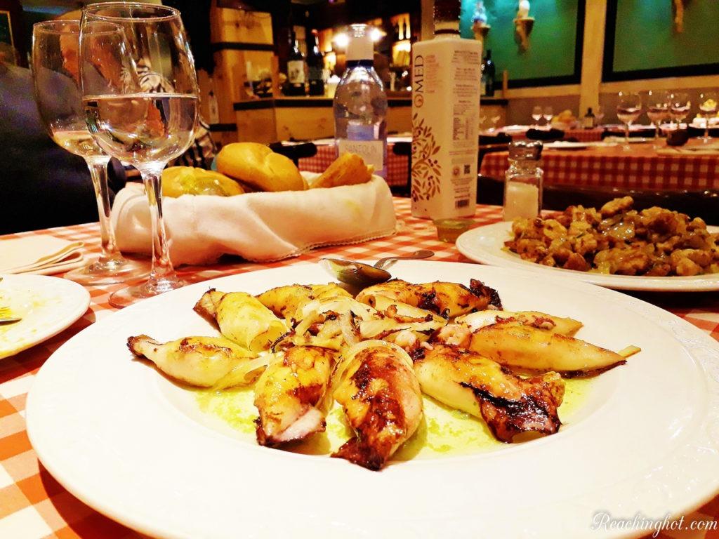 Seafood in Madrid, Spain