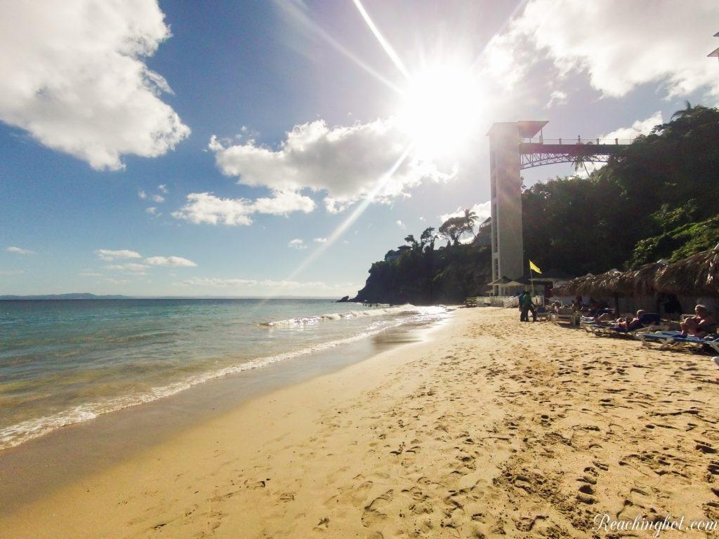 Playa Cayacoa beach in Samana in Dominican Republic