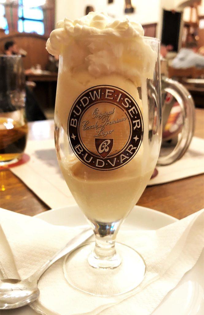 Beer ice cream in Prague