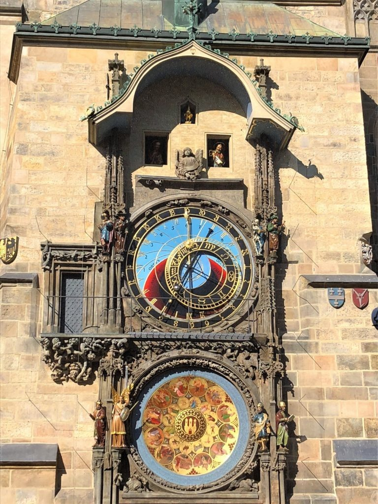 The clock of the Old Town Hall of Prague