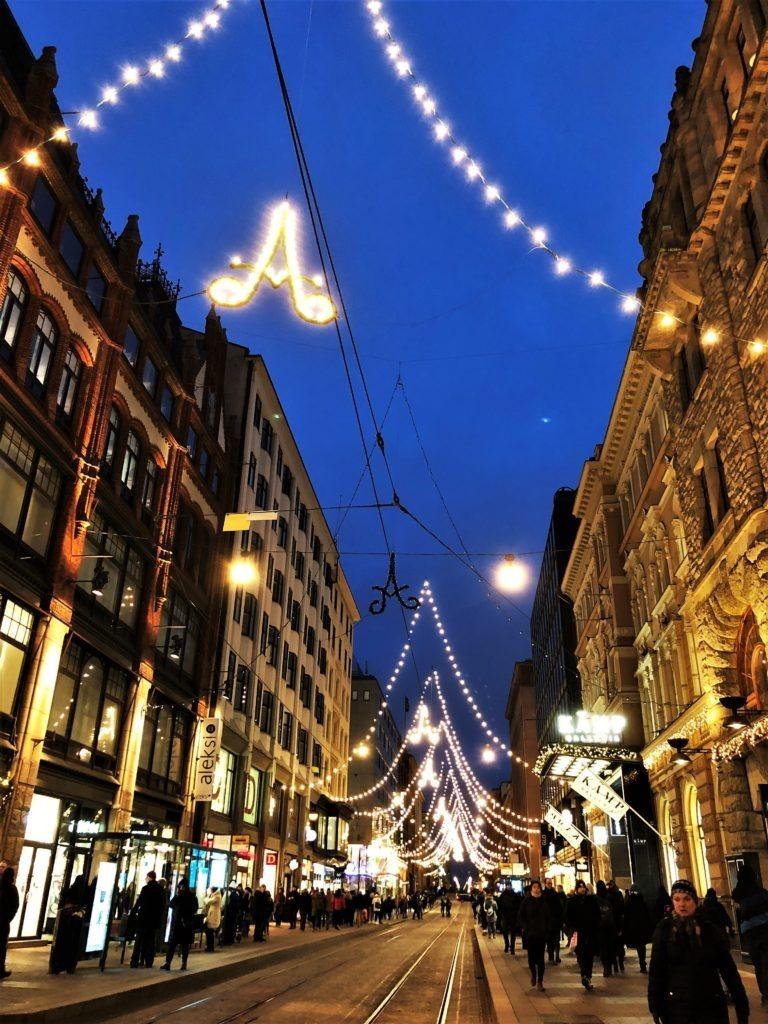 Christmas lights in Helsinki, Finland