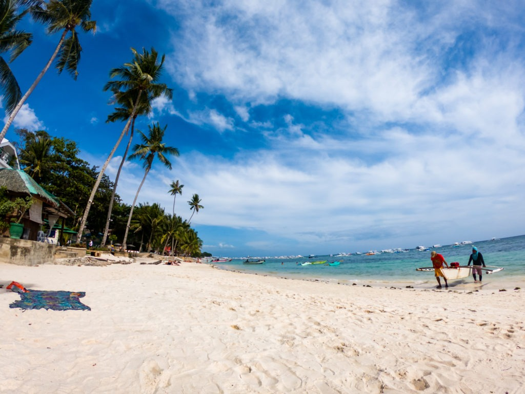 Alona Beach in Panglao island in Bohol, Philippines