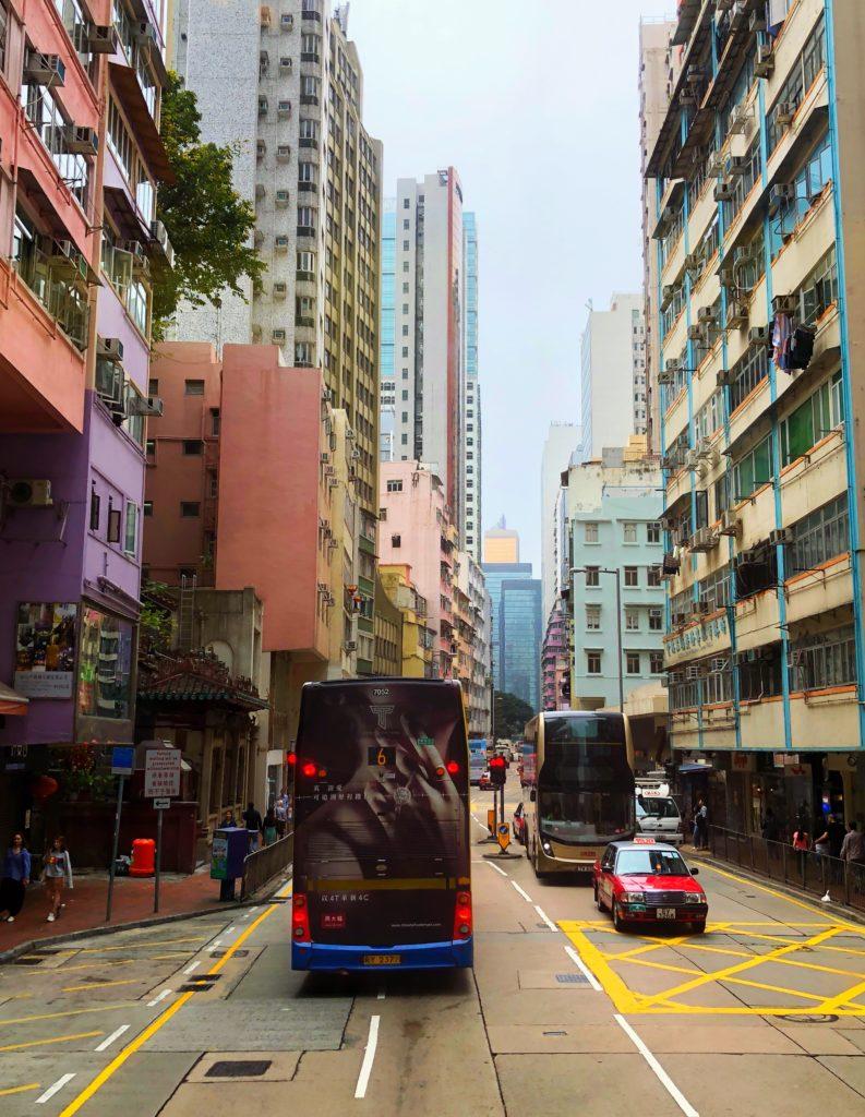colorful buildings in Hong Kong