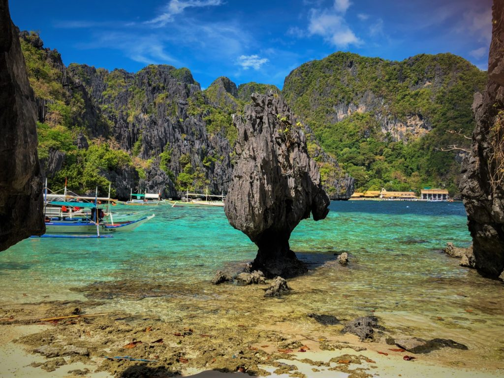 Limestone mountains in El Nido in the Philippines