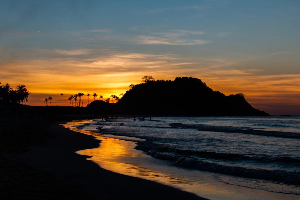 Sunset at Nacpan beach, El Nido