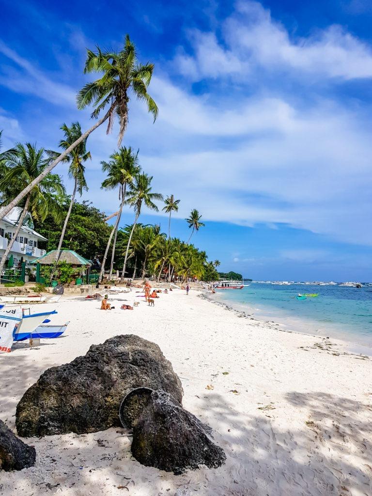 Alona beach in Bohol, Philippines