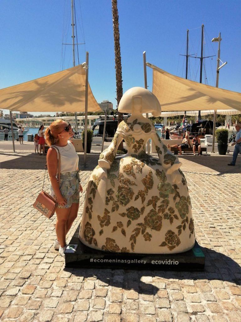 Menina sculpture in Malaga