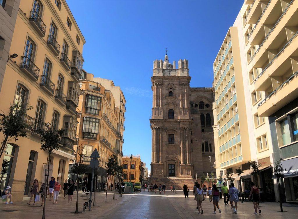 Malaga street view, Spain