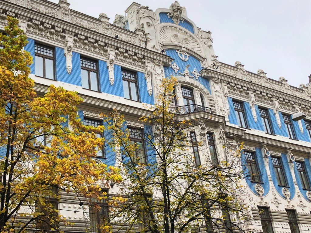 Art Nouveau styled building in Riga, Latvia