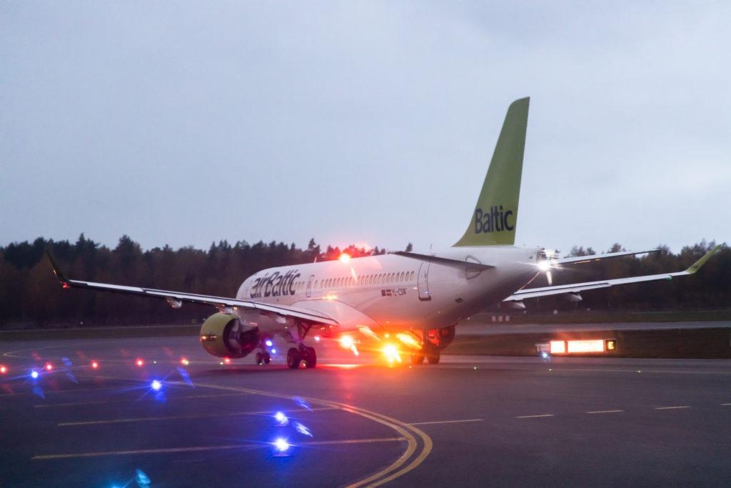 airBaltic at Riga Airport